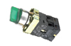 Selector Switch D22 LED Illuminated, 1-0-2, 2no 10A 250VAC, IP40, green